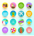 set summer vacation and travel labels and tags vector image vector image