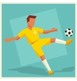Soccer player in flat design style