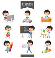 students collection vector image vector image