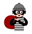 surprised thief cartoon vector image