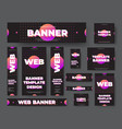 template black web banners with purple vector image vector image