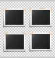 template paper photo frame set vector image