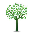 Tree with recycling symbols vector image