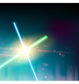 Two laser rays vector image vector image