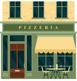 vintage pizzeria cafe restaurant house building vector image vector image