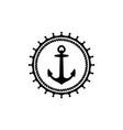 vintage sailor badge logo design vector image vector image