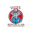 Vote Republican Elephant Mascot Thumbs Up Circle vector image vector image