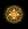 wiccan symbol protection bright gold mandala vector image vector image