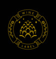 wine label mono line abstract badge design vector image vector image