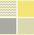 yellow gray trendy minimal seamless patterns vector image