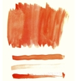 Orange watercolor elements for design vector image