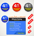 web elements for hosting vector image