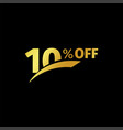 black banner discount purchase 10 percent sale vector image