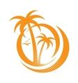 palm tree emblems icon sign design element