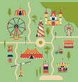 amusement park background vector image vector image