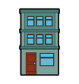 apartment building icon vector image vector image