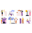 architects engineers builders and construction vector image