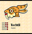 Aztec symbol tochtli vector | Price: 1 Credit (USD $1)