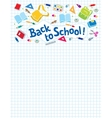 Back to school lettering or design template vector image