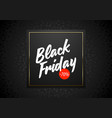 black friday sale banner on black floral vector image