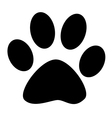 Black Paw Print vector image vector image