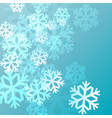 blue background with snowflakes in a cold winter vector image