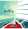 boat sailing on the ocean journey on ship water vector image