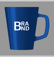 brand blue cup icon realistic style vector image