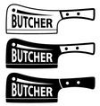 butcher meat cleaver chopper symbol vector image vector image