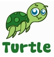Cartoon turtle for t-shirt design vector image vector image