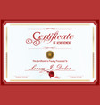 certificate or diploma template 4 vector image vector image