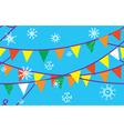Christmas seamless border with flags