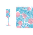 colorful pastel icon alcohol wine glass with pink vector image vector image