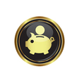copypig icon button gold copy vector image