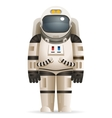 Cosmonaut Realistic 3d Astronaut isolated Spaceman vector image vector image