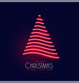 creative neon shiny christmas tree design vector image vector image