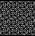 design seamless monochrome twisting pattern vector image