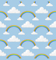 different style rainbow color strips after rain vector image vector image