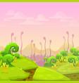 fantasy alien landscape vector image vector image