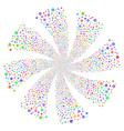first aid kit fireworks swirl rotation vector image vector image
