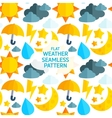 Flat weather colorful seamless pattern vector image vector image