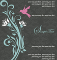 floral invitation card with bird vector image