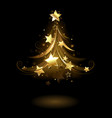Golden fir with stars vector image