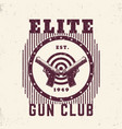 gun club vintage emblem print with pistols vector image vector image