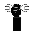 hand with wrench icon vector image