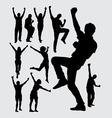 Happy people male and female silhouettes vector image vector image