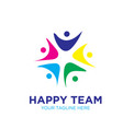 happy team logo designs icon modern vector image