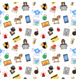 Internet Security Seamless Pattern vector image