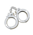 Iron handcuffs for criminal vector image