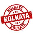 kolkata red round grunge stamp vector image vector image